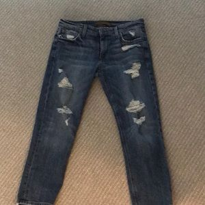 Joes low rise cropped distressed jean